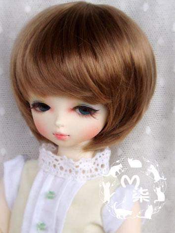 BJD Wig Brown Short Wig for YSD Size Ball-jointed Doll