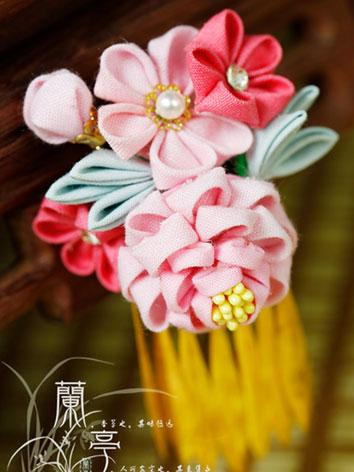 BJD Pink Flower Hairpin Hairpiece[Airan]for SD/70cm Ball-jointed doll
