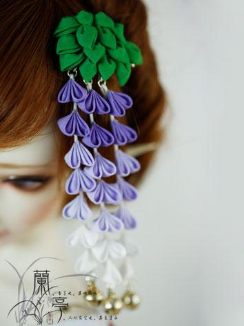 BJD Green&Purple Flower Hairpin Hairpiece[Ziteng]for SD/70cm Ball-jointed doll