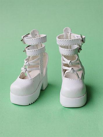 Bjd Shoes Boy/Girl White/Pi...