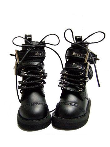 Bjd Shoes Boy/Girl Black Pu...