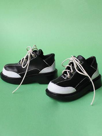 Bjd Shoes Boy/Girl Black&Wh...