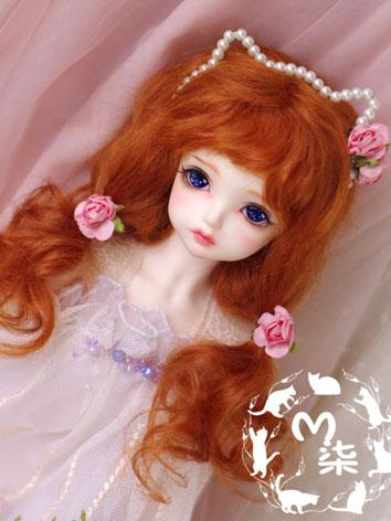 BJD Wig Orange Mohair Curly Wig for MSD/SD/YSD Size Ball-jointed Doll