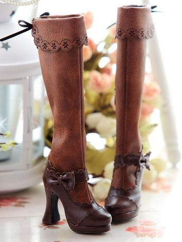 Bjd Girl Queen Boots Dark B...