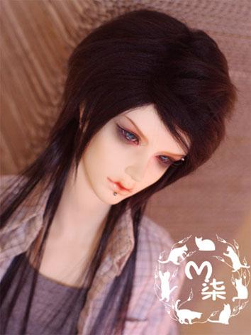 BJD Wig Black Hair for MSD/SD Size Ball-jointed Doll