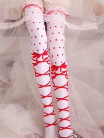 Bjd Socks Lady Red/Pink/Black High Stockings for SD/MSD Ball-jointed Doll