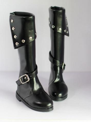 Bjd Shoes Boy Black Boots f...