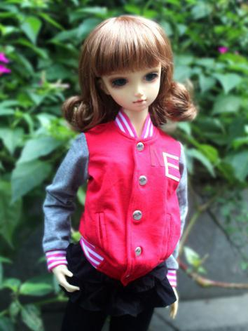 BJD Clothes Red Baseball Co...