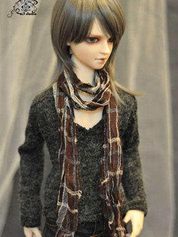 BJD Clothes Gray Sweater fo...