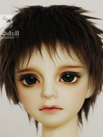 BJD Wool Wig Dark Brown Sho...
