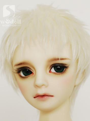 BJD Wool Wig White Short Wi...