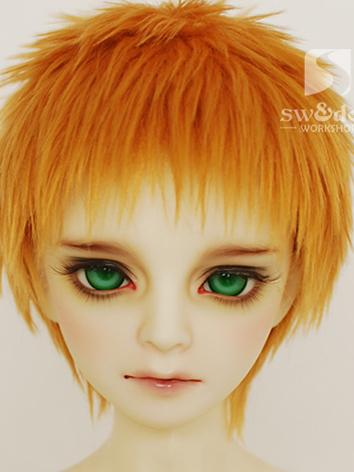 BJD Wool Wig Yellow Short W...