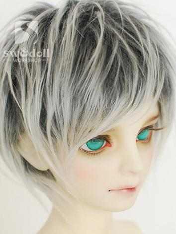 BJD Wool Wig Gray Short Wig...