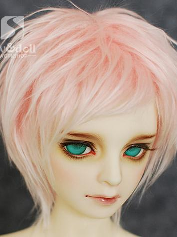 BJD Wool Wig Pink Short Wig for SD/MSD/YSD Ball Jointed Doll