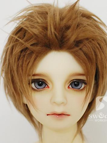 BJD Wool Wig Brown Short Wi...