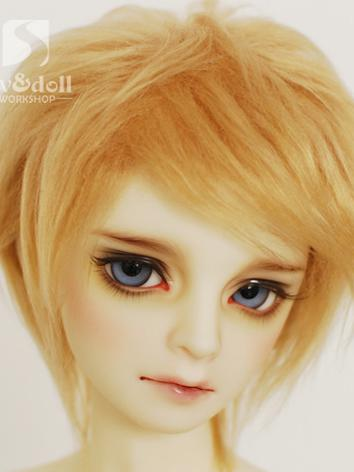 BJD Wool Wig Light Gold Short Wig for SD/MSD/YSD Ball Jointed Doll