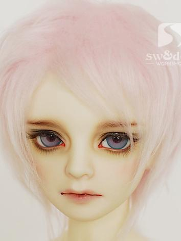 BJD Wool Wig Light Pink  Sh...