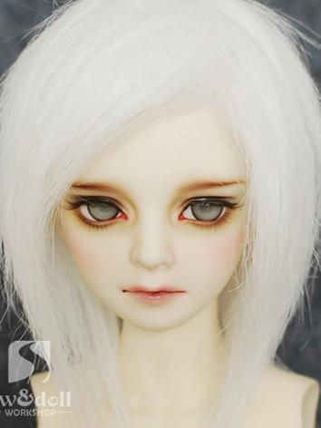 BJD Wig White Short Wig for SD/MSD/YSD Ball Jointed Doll