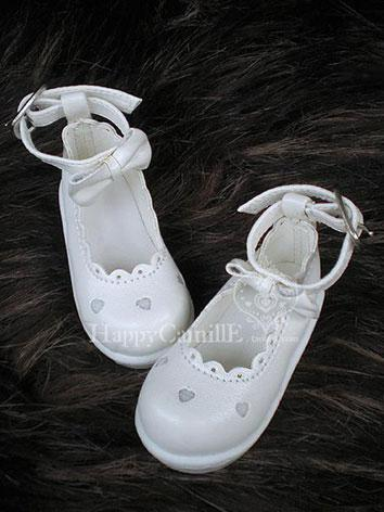 Bjd Girl White Shoes for MSD Ball-jointed Doll
