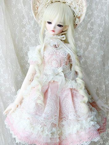Bjd Clothes Girl Cordelia Pink Outfit Set for SD size Ball-jointed Doll