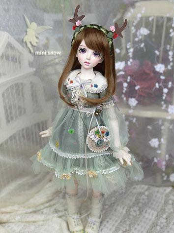 Bjd Clothes Girl Snow Green...