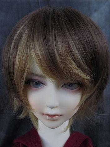 BJD Wig Male/Female Brown Short Wig for SD/MSD Size Ball-jointed Doll