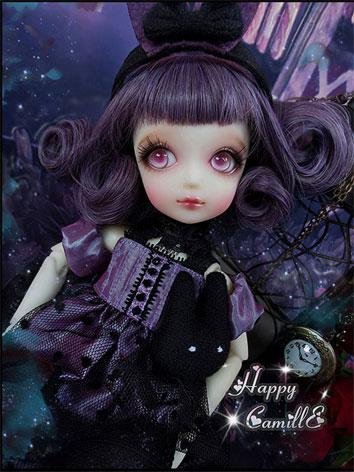 BJD Clothes Purple Dress Su...