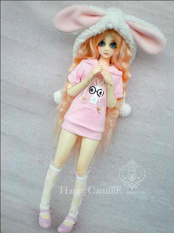 BJD Clothes Female Pink T-shirt for MSD Ball-jointed Doll