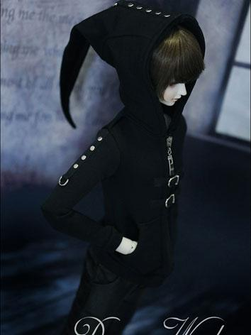 BJD Clothes Male Black Coat...