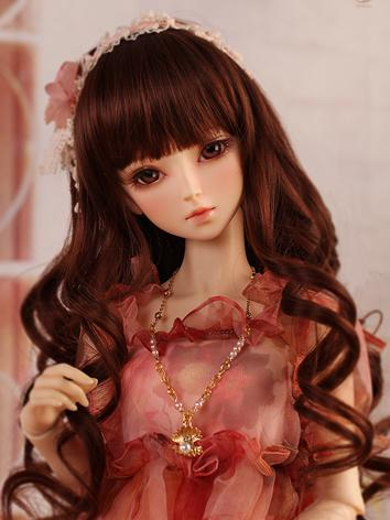 【Limited Edition】BJD 1/3 Red-brown curly hair WG315102 for SD Size Ball-jointed Doll