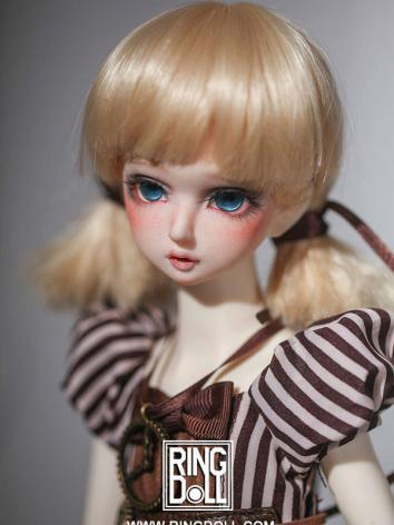 BJD Wig Girl Hair MSD Size Wig Rwigs45-24 Ball-jointed Doll