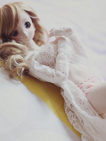 BJD Clothes White Lace Coat for SD/MSD Ball-jointed Doll