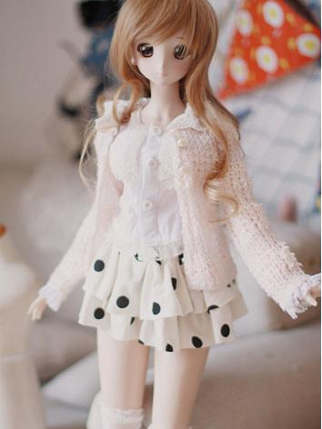 BJD Clothes Pink Cardigan Suit for SD/MSD Ball-jointed Doll