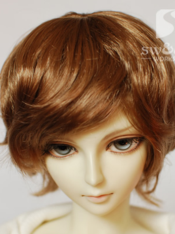 bjd wig boy short curly hair wig jw047 for sd ball jointed