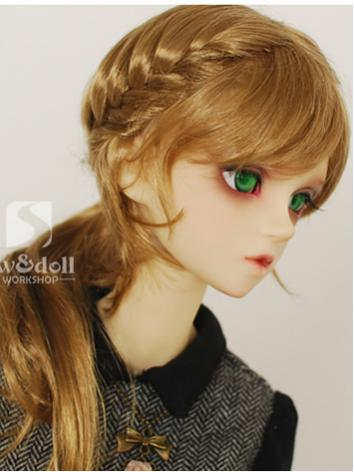 BJD Wig JW089 Girl Gold/Brown/Orange Hair Wig for SD Ball Jointed Doll