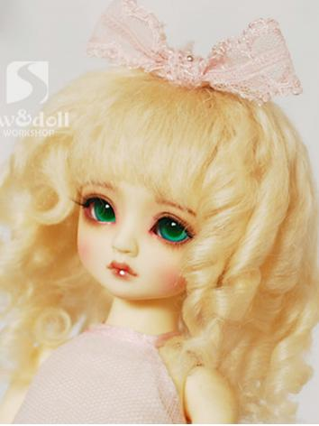 BJD Wig Girl Gold/Brown Hair Wig 【JW084】for MSD Ball Jointed Doll