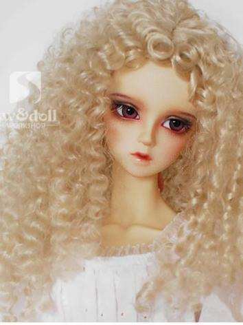BJD Wig Gold/Brown Curly Wi...