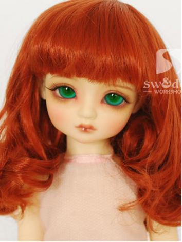 BJD Wig Orange Curly Wig【JW...