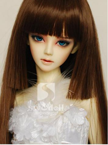 BJD Wig Girl Gold/Borwn Str...