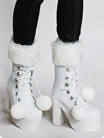 Bjd Shoes Female White Boot...