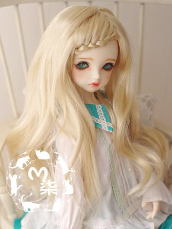 BJD Wig Light Gold Long Hair Wig for YSD/MSD/SD Size Ball-jointed Doll