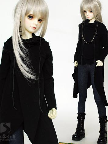 BJD Clothes Girl/Boy Black Coat for SD/MSD/70cm Ball-jointed Doll