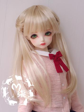 BJD Wig Gold Hair for MSD/S...