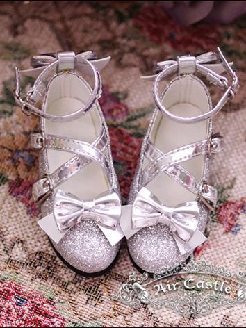 Bjd Girl White Lolita Silver Shoes for SD16/SD13/SD10 Ball-jointed Doll