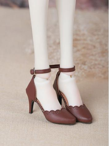BJD Shoes Girl Brown Shoes NS58-002 for SD Ball-jointed Doll