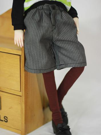 BJD Clothes Male/Female Gray Stripe Fifth Pants for MSD Ball-jointed Doll