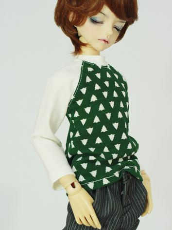 BJD Clothes Male/Female Green T-Shirt for MSD Ball-jointed Doll