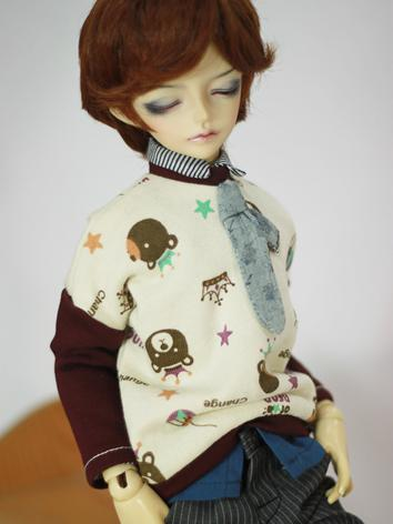 BJD Clothes Male/Female Cute T-shirt for MSD Ball-jointed Doll