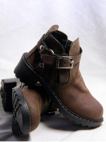 Bjd Shoes Male Brown Martin Shoes for SD13/SD17 Size Ball-jointed Doll