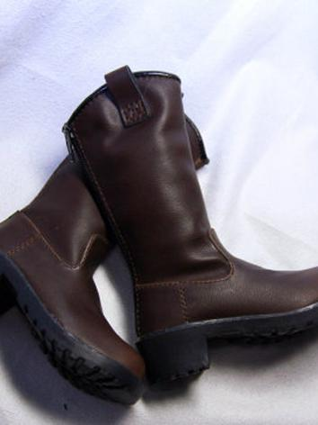 Bjd Shoes Male Brown Martin Boots Shoes for SD13/SD17 Size Ball-jointed Doll